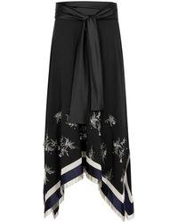 3.1 Phillip Lim - Black Embellished Midi Skirt - Lyst