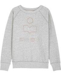 Étoile Isabel Marant - Milly Grey Cotton Blend Sweatshirt - Lyst