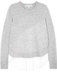 Veronica Beard - Alma Shirt-hem Wool Jumper - Lyst