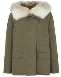 Yves Salomon - Fur-trimmed Cotton Parka - Lyst
