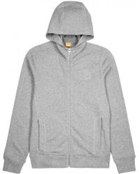 BOSS Orange - Grey Hooded Stretch Cotton Sweatshirt - Lyst