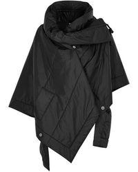 Crea Concept - Black Oversized Shell Jacket - Lyst