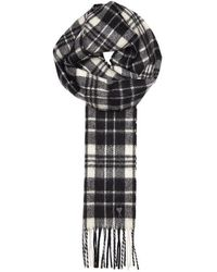 AMI - Checked Wool Scarf - Lyst