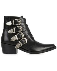 Toga Pulla - Black Leather Ankle Boots - Size 6 - Lyst