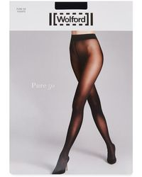 Wolford - Pure Admiral Navy 50 Denier Tights - Size M - Lyst