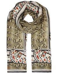 Givenchy | Printed Silk Chiffon Scarf | Lyst