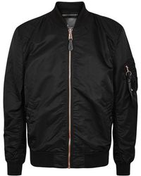 Alpha Industries - Ma-1 Black Shell Bomber Jacket - Size L - Lyst