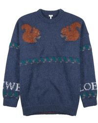 Loewe - Squirrel Knitted Mohair-blend Jumper - Lyst