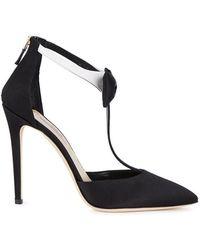 Olgana Paris - La Garconne Black Satin Sandals - Lyst