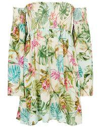 Pilyq - Tulum Madison Floral-print Rayon Dress - Lyst