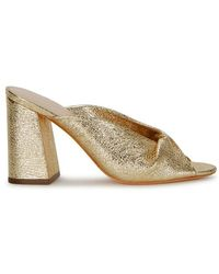 Loeffler Randall - Laurel Gold Leather Mules - Lyst