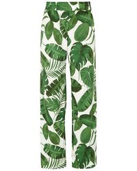 Alice + Olivia - Benny Palm Leaf-print Trousers - Lyst