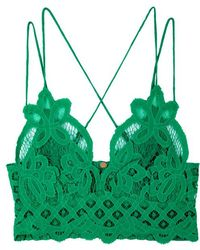Free People - Adella Green Lace Bra Top - Lyst