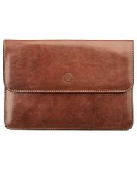 Maxwell Scott Bags - Men S Finely Crafted Leather Travel Wallet In Tan - Lyst