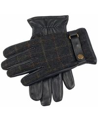 Dents - Edinburgh Flannel And Leather Gloves - Lyst