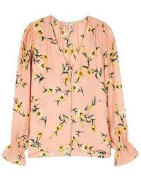Joie - Bolona Floral-print Silk Blouse - Lyst