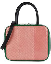 Michino Paris Squarit Pm Watersnake Box Bag