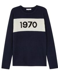 Bella Freud - 1970 Navy Wool Jumper - Lyst
