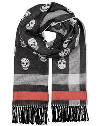 Alexander McQueen - Skull-jacquard Wool Scarf - Lyst