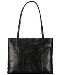Maxwell Scott Bags - Women S Elegant Black Leather Shopper Bag - Lyst