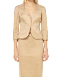 Max Studio - Stretch Jacquard Fitted Jacket - Lyst