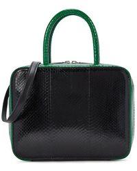 Michino Paris - Squarit Mm Green And Black Watersnake Box Bag - Lyst