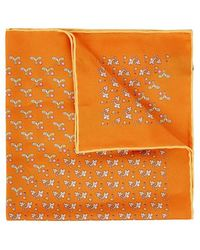 Ferragamo - Golf-print Silk Twill Pocket Square - Lyst
