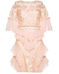 True Decadence - Embroidered Mini Dress - Lyst