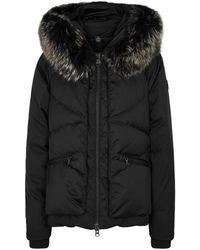 Colmar - Black Fur-trimmed Shell Jacket - Lyst