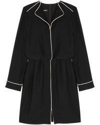 Emporio Armani - Black Pipe-trimmed Dress - Lyst