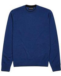 Emporio Armani - Colbalt Blue Wool-blend Jumper - Lyst