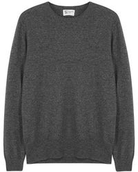 Johnstons - Charcoal Cashmere Jumper - Size 38 - Lyst