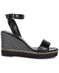 Lanvin Woman Color-block Smooth And Patent-leather Platform Sandals Black Size 37 Lanvin oyHkw4