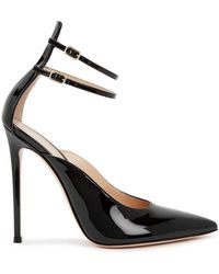 69bce11556 Gianvito Rossi Vela 100 Black Patent Leather Pumps in Black - Lyst