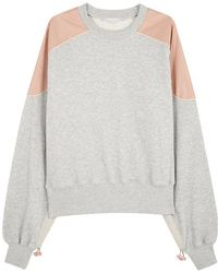Stella McCartney | Faux Leather-panelled Jersey Sweatshirt | Lyst