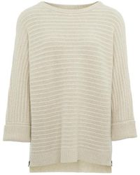 Nicole Farhi - Oatmeal Melange Gigi Oversized Dolman Cashmere Sweater - Lyst