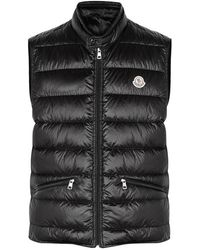 Moncler - Gui Black Quilted Shell Gilet - Lyst