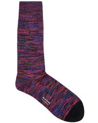 Paul Smith - Multicoloured Marled Cotton Blend Socks - Lyst