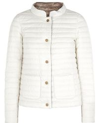 Herno | Ivory Reversible Shell Jacket | Lyst