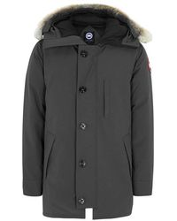 Canada Goose - Chateau Charcoal Fur-trimmed Twill Parka - Lyst