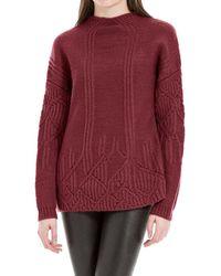 Max Studio - Heathered Wool And Alpaca Pullover Jumper - Lyst