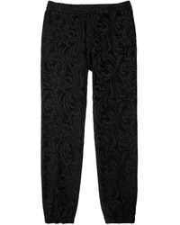 Versace | Baroque Velvet Jogging Trousers | Lyst