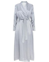 Meng - Silver Shawl-collared Robe - Lyst