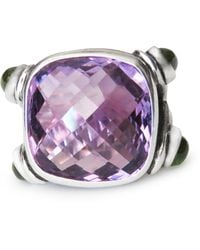 Isabel Englebert Regal Amethyst Peridot Ring - Purple