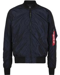 Alpha Industries - Ma-1 Metallic Blue Shell Bomber Jacket - Lyst
