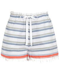 lemlem - Asha Striped Cotton-blend Shorts - Lyst