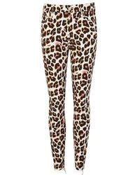 Mother - Looker Leopard-print Jeans - Lyst