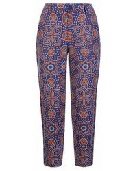 Varana - Jacquard Ajrakh Inspired Cropped Trousers - Lyst