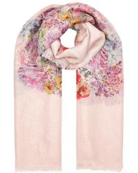 Valentino - Jardin Des Fleur Printed Scarf - Lyst