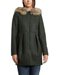 Tara Jarmon - Fur Trim Coat - Lyst